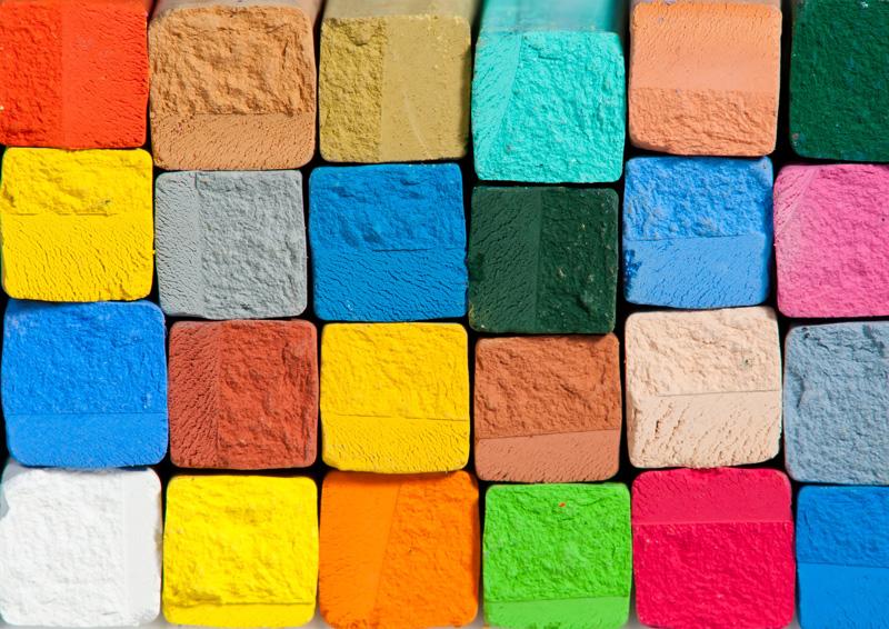Kreiden unterschiedlichster Farben